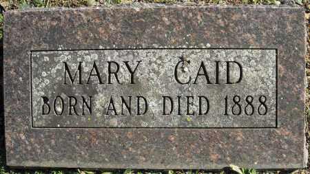CAID, MARY - Faulkner County, Arkansas | MARY CAID - Arkansas Gravestone Photos