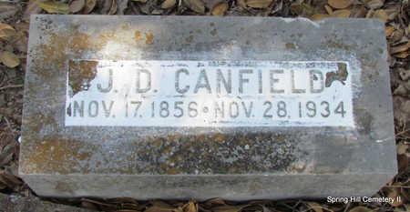 CANFIELD, J.D. - Faulkner County, Arkansas | J.D. CANFIELD - Arkansas Gravestone Photos