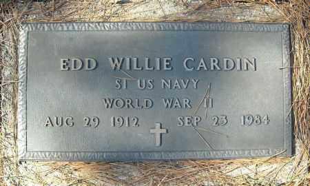 CARDIN (VETERAN WWII), EDD WILLIE - Faulkner County, Arkansas | EDD WILLIE CARDIN (VETERAN WWII) - Arkansas Gravestone Photos