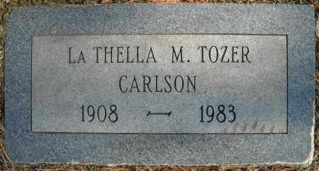 CARLSON, LA THELLA M. - Faulkner County, Arkansas | LA THELLA M. CARLSON - Arkansas Gravestone Photos