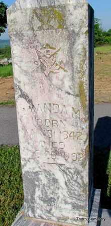 WHITE CARRINGTON, AMANDA M. (CLOSE UP) - Faulkner County, Arkansas | AMANDA M. (CLOSE UP) WHITE CARRINGTON - Arkansas Gravestone Photos