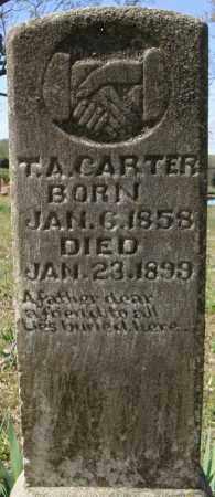 CARTER, T.A. - Faulkner County, Arkansas   T.A. CARTER - Arkansas Gravestone Photos