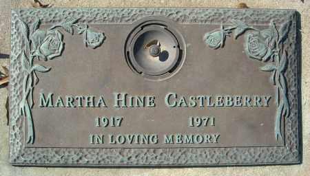 HINE CASTLEBERRY, MARTHA - Faulkner County, Arkansas | MARTHA HINE CASTLEBERRY - Arkansas Gravestone Photos