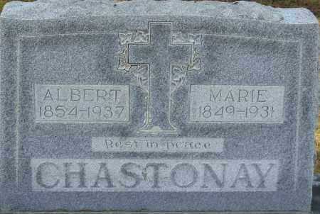 CHASTONAY, ALBERT - Faulkner County, Arkansas   ALBERT CHASTONAY - Arkansas Gravestone Photos