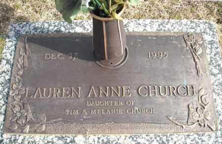 CHURCH, LAUREN ANNE - Faulkner County, Arkansas   LAUREN ANNE CHURCH - Arkansas Gravestone Photos