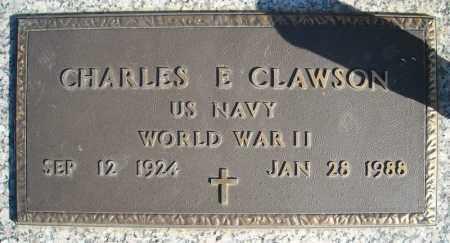 CLAWSON (VETERAN WWII), CHARLES E - Faulkner County, Arkansas | CHARLES E CLAWSON (VETERAN WWII) - Arkansas Gravestone Photos