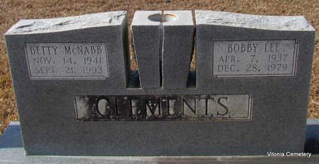 MCNABB CLEMENTS, BETTY - Faulkner County, Arkansas | BETTY MCNABB CLEMENTS - Arkansas Gravestone Photos