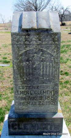 CLEMENTS, ESTER E. - Faulkner County, Arkansas | ESTER E. CLEMENTS - Arkansas Gravestone Photos