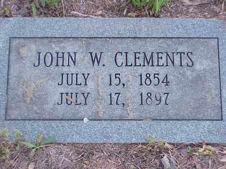 CLEMENTS, JOHN W. - Faulkner County, Arkansas | JOHN W. CLEMENTS - Arkansas Gravestone Photos
