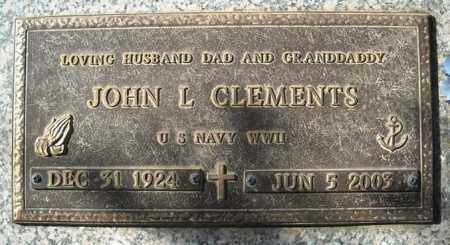 CLEMENTS (VETERAN WWII), JOHN L - Faulkner County, Arkansas | JOHN L CLEMENTS (VETERAN WWII) - Arkansas Gravestone Photos