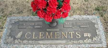 CLEMENTS, REV., T. DEAN - Faulkner County, Arkansas | T. DEAN CLEMENTS, REV. - Arkansas Gravestone Photos
