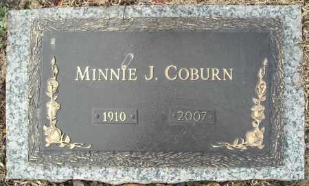 COBURN, MINNIE J. - Faulkner County, Arkansas   MINNIE J. COBURN - Arkansas Gravestone Photos