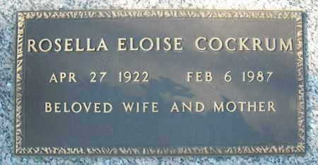 COCKRUM, ROSELLA ELOISE - Faulkner County, Arkansas | ROSELLA ELOISE COCKRUM - Arkansas Gravestone Photos