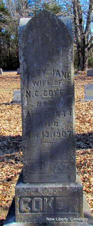 COKER, MARY JANE - Faulkner County, Arkansas | MARY JANE COKER - Arkansas Gravestone Photos