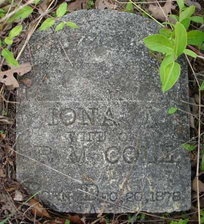COLE (PART 1), IONA - Faulkner County, Arkansas   IONA COLE (PART 1) - Arkansas Gravestone Photos