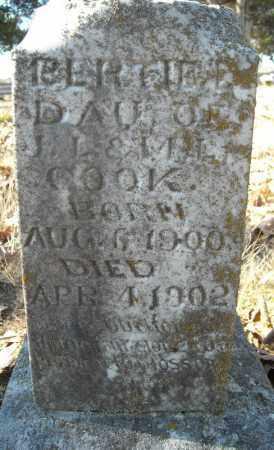 COOK (SIDE VIEW), BERTIE L. - Faulkner County, Arkansas   BERTIE L. COOK (SIDE VIEW) - Arkansas Gravestone Photos
