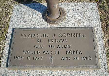 CORNELL (VETERAN 2 WARS), FRANKLIN J - Faulkner County, Arkansas | FRANKLIN J CORNELL (VETERAN 2 WARS) - Arkansas Gravestone Photos