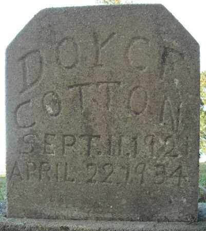 COTTON, DOYCE - Faulkner County, Arkansas | DOYCE COTTON - Arkansas Gravestone Photos