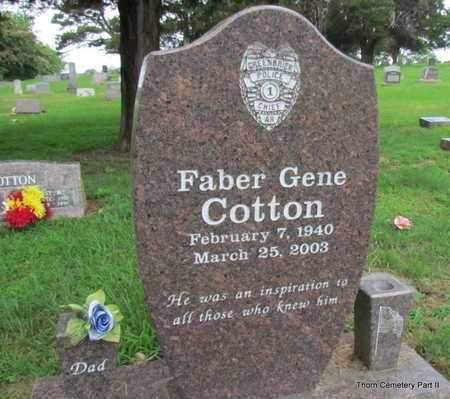 COTTON, FABER GENE (PUBLIC SERVANT) - Faulkner County, Arkansas | FABER GENE (PUBLIC SERVANT) COTTON - Arkansas Gravestone Photos