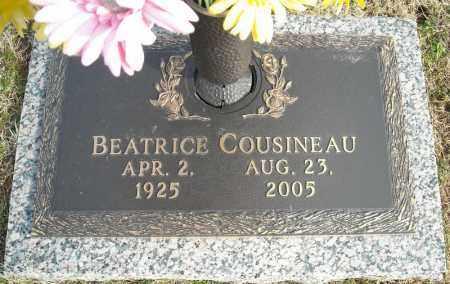 COUSINEAU, BEATRICE - Faulkner County, Arkansas | BEATRICE COUSINEAU - Arkansas Gravestone Photos