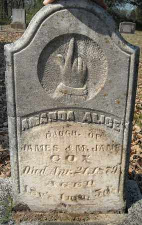 COX, AMANDA ALICE - Faulkner County, Arkansas | AMANDA ALICE COX - Arkansas Gravestone Photos