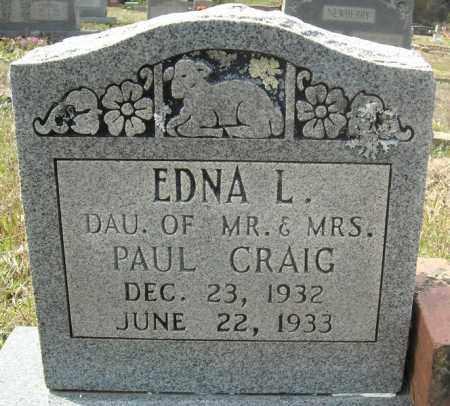 CRAIG, EDNA L. - Faulkner County, Arkansas | EDNA L. CRAIG - Arkansas Gravestone Photos