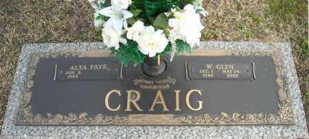 CRAIG, W. GLEN - Faulkner County, Arkansas | W. GLEN CRAIG - Arkansas Gravestone Photos