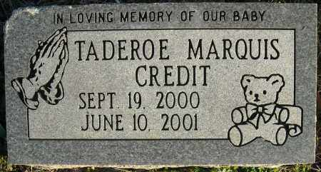 CREDIT, TADEROE MARQUIS - Faulkner County, Arkansas | TADEROE MARQUIS CREDIT - Arkansas Gravestone Photos