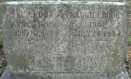 CROOK, T.J. - Faulkner County, Arkansas   T.J. CROOK - Arkansas Gravestone Photos