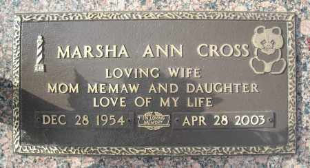 CROSS, MARSHA ANN - Faulkner County, Arkansas | MARSHA ANN CROSS - Arkansas Gravestone Photos