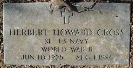 CROSS (VETERAN WWII), HERBERT HOWARD - Faulkner County, Arkansas | HERBERT HOWARD CROSS (VETERAN WWII) - Arkansas Gravestone Photos