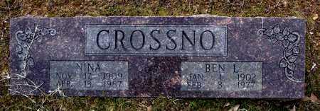 CROSSNO, NINA - Faulkner County, Arkansas | NINA CROSSNO - Arkansas Gravestone Photos