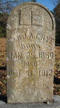 *CRYE, ELDER, JOSEPH ALEXANDER - Faulkner County, Arkansas | JOSEPH ALEXANDER *CRYE, ELDER - Arkansas Gravestone Photos