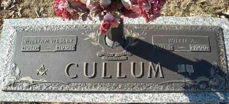 CULLUM, WILLIE A. - Faulkner County, Arkansas | WILLIE A. CULLUM - Arkansas Gravestone Photos