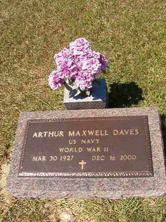DAVES (VETERAN WWII), ARTHUR MAXWELL - Faulkner County, Arkansas   ARTHUR MAXWELL DAVES (VETERAN WWII) - Arkansas Gravestone Photos