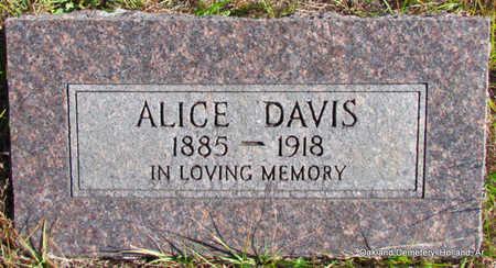 DAVIS, ALICE - Faulkner County, Arkansas | ALICE DAVIS - Arkansas Gravestone Photos