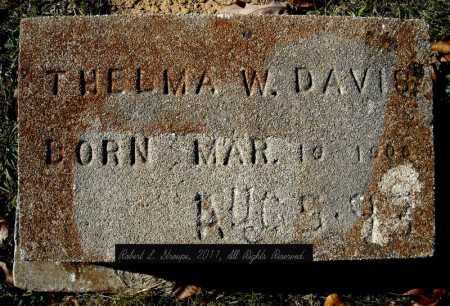 DAVIS, THELMA W. - Faulkner County, Arkansas   THELMA W. DAVIS - Arkansas Gravestone Photos