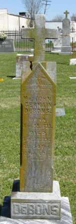 DEBONS, JOHN GERMAIN - Faulkner County, Arkansas | JOHN GERMAIN DEBONS - Arkansas Gravestone Photos