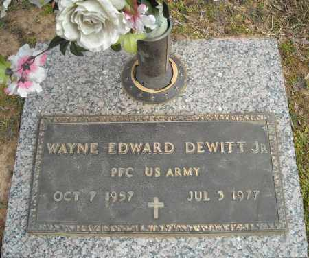 DEWITT, JR (VETERAN), EDWARD WAYNE - Faulkner County, Arkansas | EDWARD WAYNE DEWITT, JR (VETERAN) - Arkansas Gravestone Photos