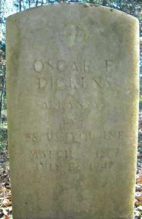 DICKENS  (VETERAN), OSCAR REEVES - Faulkner County, Arkansas   OSCAR REEVES DICKENS  (VETERAN) - Arkansas Gravestone Photos