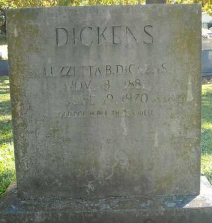 DICKENS, LUZZETTA B. - Faulkner County, Arkansas | LUZZETTA B. DICKENS - Arkansas Gravestone Photos