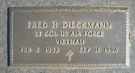 DIECKMANN (VETERAN VIET), FRED H - Faulkner County, Arkansas | FRED H DIECKMANN (VETERAN VIET) - Arkansas Gravestone Photos
