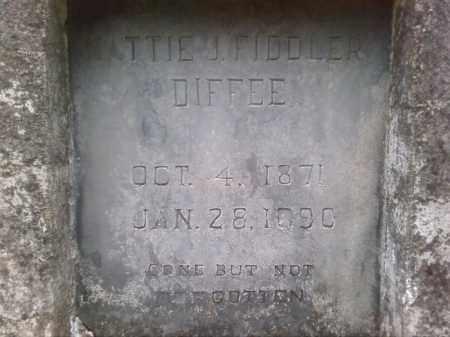 FIDDLER DIFFEE, MATTIE (CLOSE UP) - Faulkner County, Arkansas | MATTIE (CLOSE UP) FIDDLER DIFFEE - Arkansas Gravestone Photos