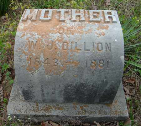 DILLON, MOTHER OF W.J. - Faulkner County, Arkansas | MOTHER OF W.J. DILLON - Arkansas Gravestone Photos