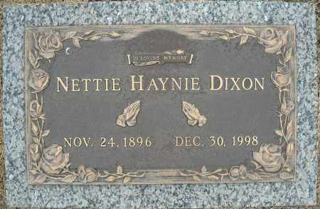 DIXON, NETTIE - Faulkner County, Arkansas | NETTIE DIXON - Arkansas Gravestone Photos