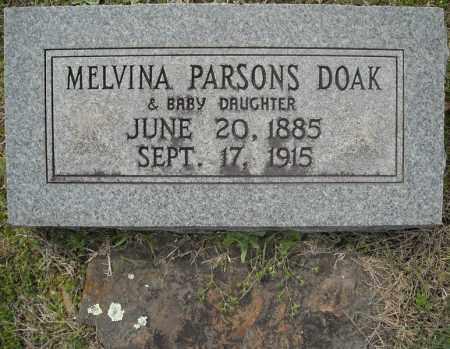 PARSONS DOAK, MELVINA - Faulkner County, Arkansas | MELVINA PARSONS DOAK - Arkansas Gravestone Photos