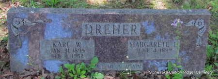 DREHER, MARGARETE E. - Faulkner County, Arkansas   MARGARETE E. DREHER - Arkansas Gravestone Photos