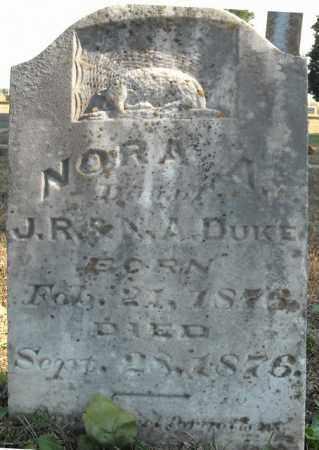 DUKE, NORA A. - Faulkner County, Arkansas   NORA A. DUKE - Arkansas Gravestone Photos