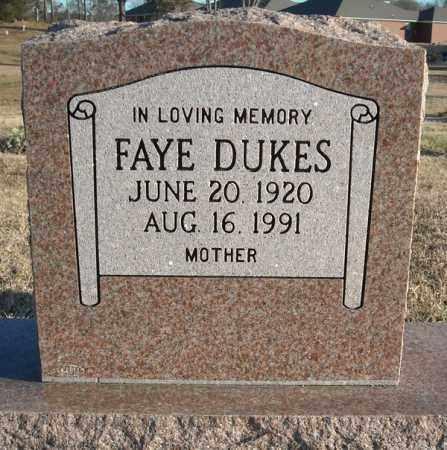 DUKES, FAYE - Faulkner County, Arkansas | FAYE DUKES - Arkansas Gravestone Photos