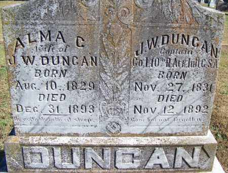 DUNCAN (VETERAN CSA), JOHN WILLIAM - Faulkner County, Arkansas | JOHN WILLIAM DUNCAN (VETERAN CSA) - Arkansas Gravestone Photos